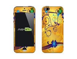 SASKIN488242 shamrock 4 leaf clover yellow Phone Vinyl Skin Decal Sticker