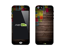 SASKIN488246 wood panels Phone Vinyl Skin Decal Sticker