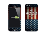 SASKIN488253 KCCO vintage usa flag Phone Vinyl Skin Decal Sticker