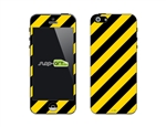 SASKIN488254 caution stripes Phone Vinyl Skin Decal Sticker