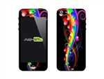 SASKIN488269 colorful hearts Phone Vinyl Skin Decal Sticker