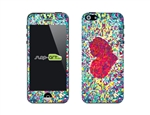 SASKIN488273 crystals heart Phone Vinyl Skin Decal Sticker