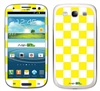 Yellow and White Checkered Phone Skin Decal Sticker
