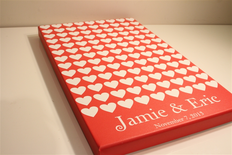 Canvas Guest books - guest book alternative 0d6713d35da2