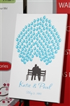 Thumbprint Fingerprint Wedding Canvas Guest book S9x38826 Couple On Bench - Guest book alternative for weddings, birthdays, baby showers, and more!