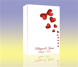 Thumbprint Fingerprint Wedding Canvas Guest book S9x38829 Butterfly Hearts - Guest book alternative for weddings, birthdays, baby showers, and more!