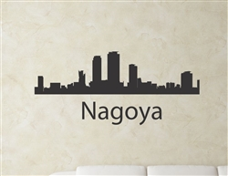 Nagoya Japan city skyline Vinyl Wall Art