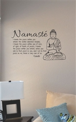 Namaste I honor the place within you Vinyl Wall Art