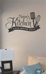Nana's kitchen tasters welcome Vinyl Wall Art