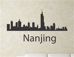 Nanjing China city skyline Vinyl Wall Art