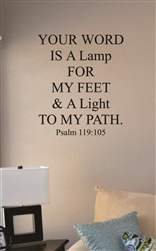 Your word is a lamp Vinyl Wall Art