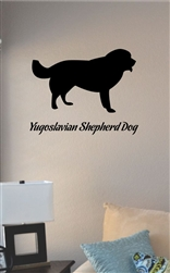 Yugoslavian Shepherd Dog Vinyl Wall Art