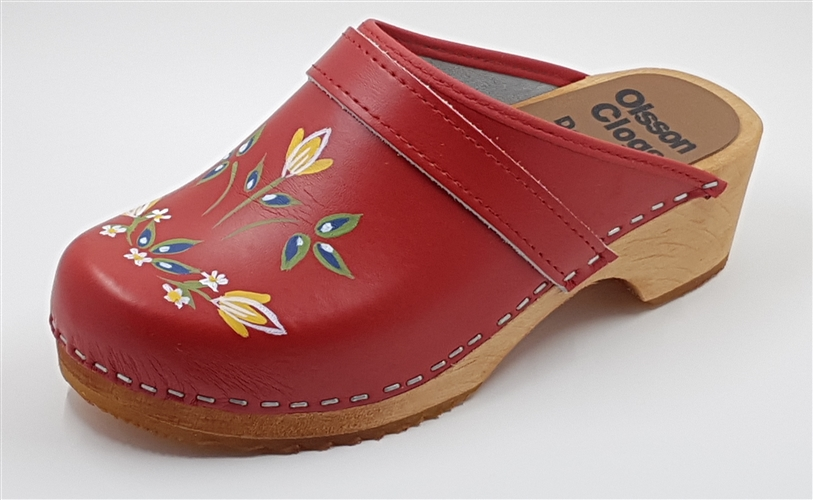 Olsson Clogs - Handpainted- size 6, 7, 9