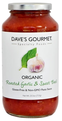 Organic Roasted Garlic & Sweet Basil Pasta Sauce
