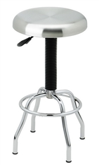 Adjustable Height Swivel Stool Stainless Steel & Chrome NSF