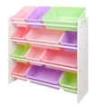 Toy Bin Storage Rack Pastel Colors