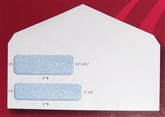 "New 500 Double Window #9 Envelopes Columbian White Invoice 3-7/8"" x 8-7/8"""