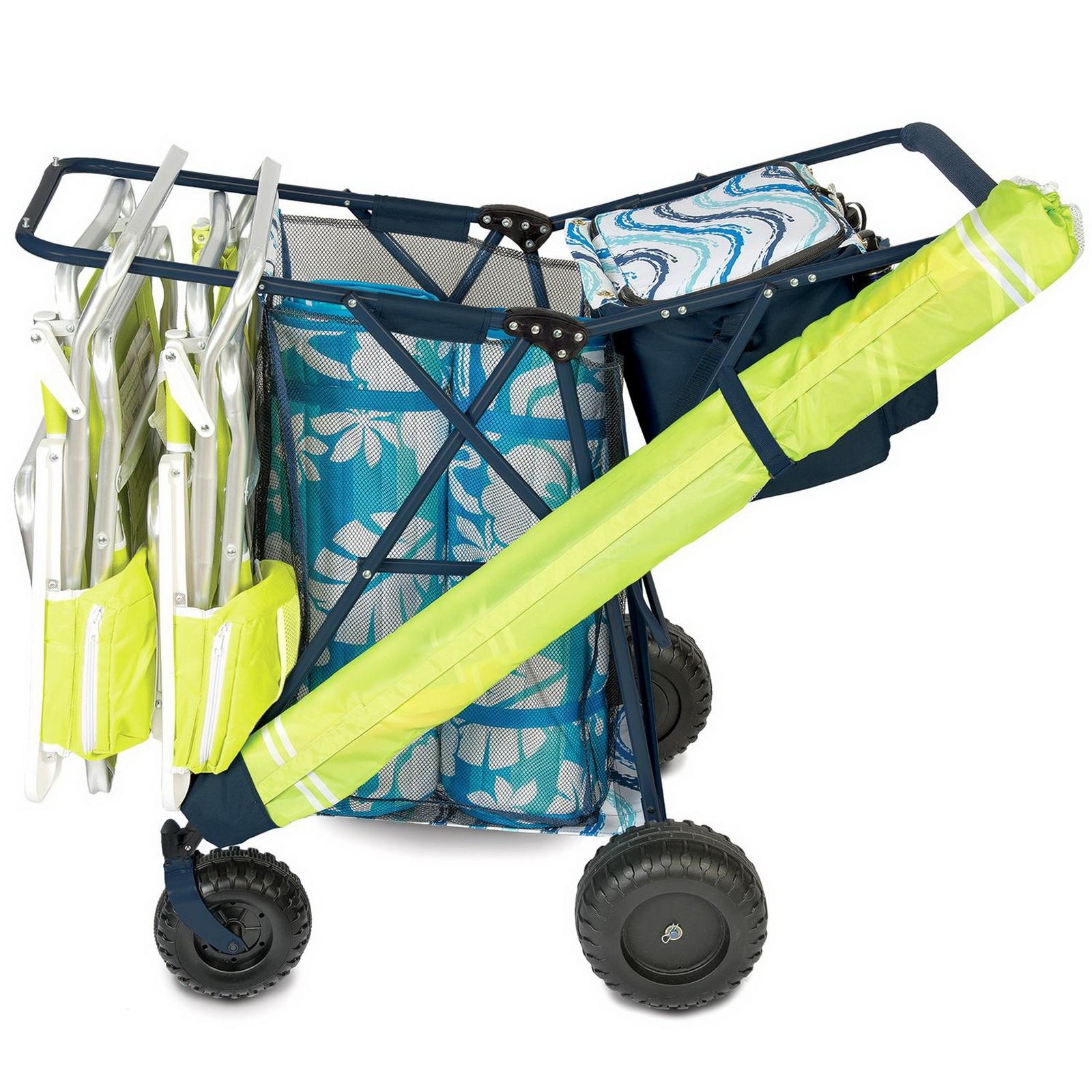 Big Folding Beach Cart Amp Portable Cooler Shopping Gear