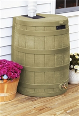 50-Gallon Rain Wizard Barrel Brown
