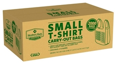 2000 Small T-Shirt Carry Out Shopping Bags