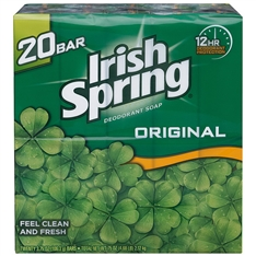 Irish Spring Deodorant Soap 20 ct Value Pack 3.75 oz Bars