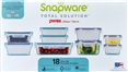 Snapware Pyrex 18-piece Glass Food Storage Set