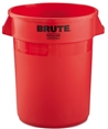 Rubbermaid Red Plastic Trashcan/Garbagecan
