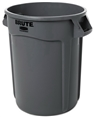 Rubbermaid Gray Plastic Trashcan/Garbagecan