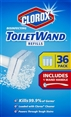 Clorox ToiletWand Disposable Toilet Cleaning System, 1 ToiletWand Handle and 36 Disinfecting Refill Heads