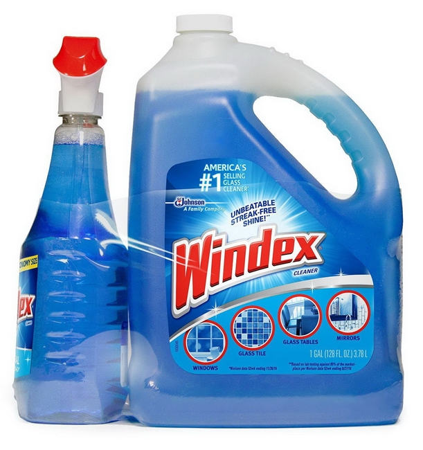 Windex Original Glass Cleaner Pack 128 oz. refill + 32 oz. trigger