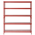 "Muscle Rack 5-Shelf Steel Shelving Unit, 60"" Width x 72"" Height x 18"" Length Red"