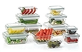 24-Piece Glass Food Storage Set by Glasslock