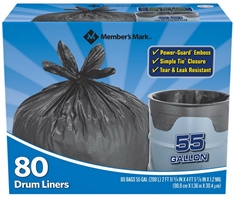 80 Simple Tie Trash Bags Teak and Leak Resistant