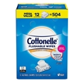 Cottonelle 504 ct Flushable Wipes 12 Packs of 42 Baby Septic Safe Wipes