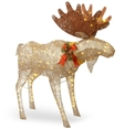 "Indoor Outdoor 48"" Pre-Lit Outdoor Decor Moose"