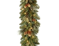 National Tree Company 9' Battery-Operated Pre-Lit Carolina Pine Garland