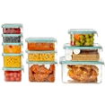 Wellslock Classic One-Lock 22-Piece Food Storage Container Deluxe Pack Teal