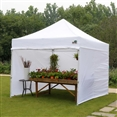 10' x 10' Instant Popup Canopy with Sidewalls and Bugscreen