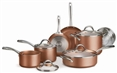 Tramontina 11-Piece Nonstick Cookware Set  Cooper Finish