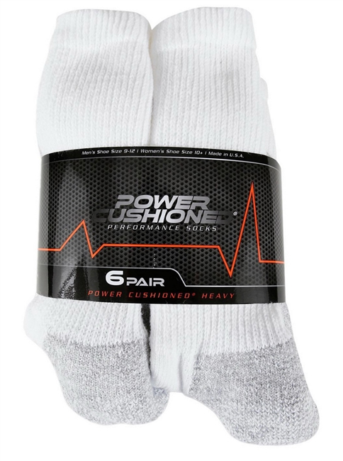 6 Pack Men's Cotton Crew Socks
