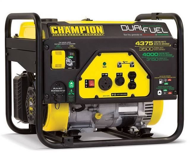 Champion Dual Fuel Power Generator
