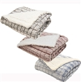 Reversible Throw Blanket Sherpa Micromink