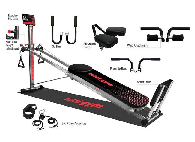 Total Gym Home Exercise Fitness Gym Machine XL7