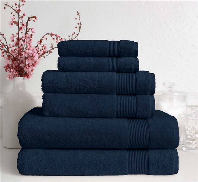 6 Bath Towel Set