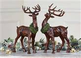 Set of 2 Table Top Reindeer Christmas Decoartion