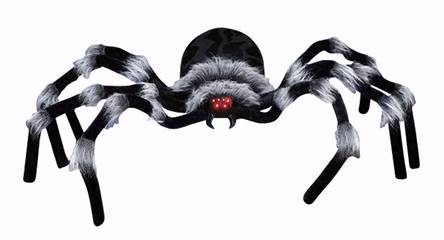 7' Spider with LED Eyes Halloween Decoration