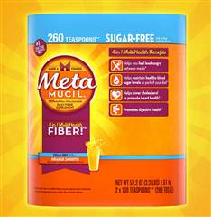 Metamucil Fiber Supplement Orange Sugar Free 260 Servings