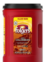 Two 43 oz Folgers Colombian Coffee