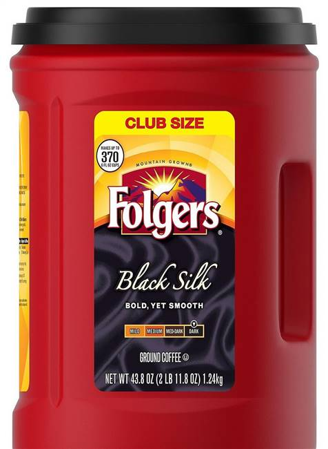 Two 43 oz Folgers Black Silk Coffee