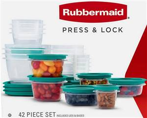 Rubbermaid 42 pc Press and Lock Food Storage Set